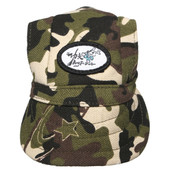 Green Camo Visor Dog Baseball Cap