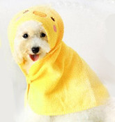 Yellow Duck Design Dog Bathrobe Towel