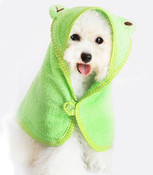 Green Frog Design Dog Bathrobe Towel