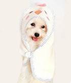 Beige Chicken Design Dog Bathrobe Towel