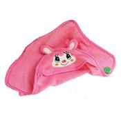 Pink Cute Animal Design Dog Bathrobe Towel