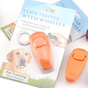 2 in 1 Ultrasonic Dog Training Whistle and Clicker