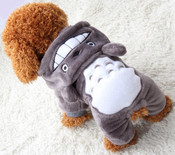 Grey Soft Fleece Animal Character Dog Onesie Pyjamas