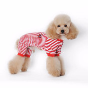 Red Striped Sailor Dog Pyjamas