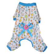Blue Giraffe Dog Pyjamas