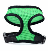 Bright Green Soft Nylon Dog Harness