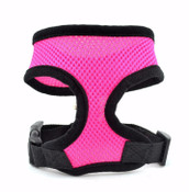 Bright Pink Soft Nylon Dog Harness
