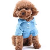 Blue Plain Dog Polo T-Shirt