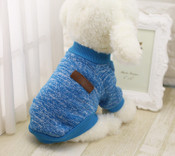 Turquoise Classic Dog Jumper