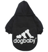 Black Dogbaby Bone Design Dog Hoodie