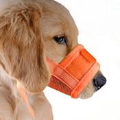 Orange Mesh Dog Muzzle