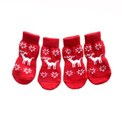 Red Reindeer Dog Socks