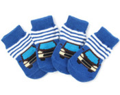 Blue Car Dog Socks