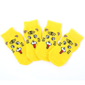 Yellow Tiger Dog Socks