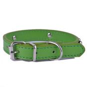 Green PU Leather Effect Dog Collar
