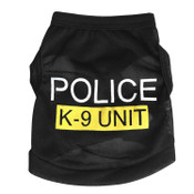 Black Police K9 Security Dog Vest