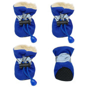 Blue Fleece Lined Waterproof Dog Boots
