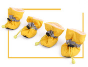 Yellow Fleece Lined Waterproof Dog Boots