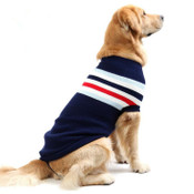 Large Blue Stripe Knitted Dog Jumper