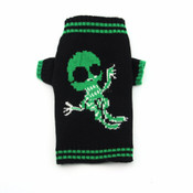 Black Green Alien Knitted Dog Jumper