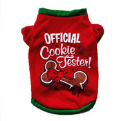 Red Official Cookie Tester Christmas Dog T-Shirt