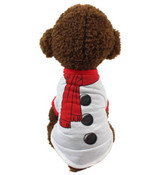 White Snowman Christmas Dog T-Shirt