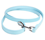 Blue PU Leather Effect Dog Lead