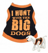 Black Hunting Design Dog Vest