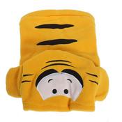 Yellow Tiger Fleece Dog Coat