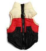 Black/Red/White Dog Puffer Vest
