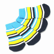 Blue/Yellow Striped Dog Socks