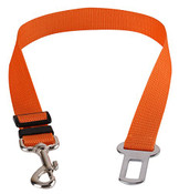 Orange Car Seatbelt Dog Lead