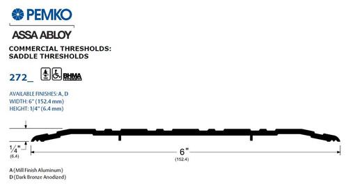 Pemko Saddle Threshold - 272