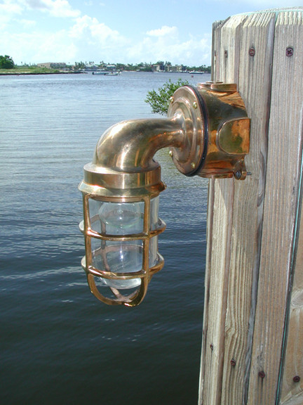 Nautical Pathway Dock Light Made Of Brass And Bronze Come