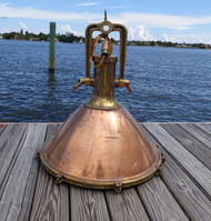 copper cargo ship light