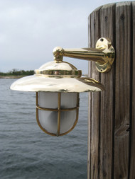 brass nautical wall mounted dock light