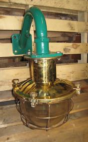 vintage brass nautical light