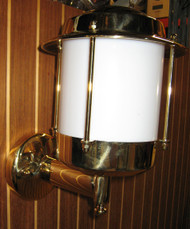 European brass wall nautical sconce