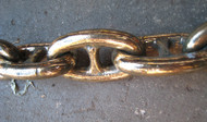 "Bronze Minesweeper 4"" double link chain- polished - 5 foot section"