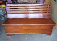 Vintage Solid Teak Ship's Bench