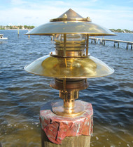 Bronze pagoda nautical dock light