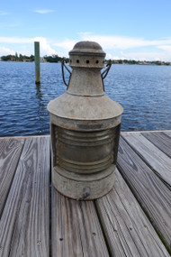 Vintage galvanized rustic masthead ship light