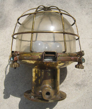 vintage caged nautical light