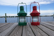 galvanized port and starboard anchor ship lights