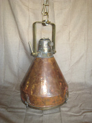 nautical hanging smooth copper ship light