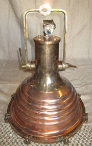 Copper nautical hanging ship light