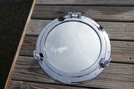nautical chrome porthole mirror