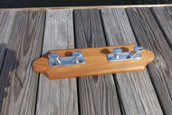 Captains Teak Coat Rack with Chrome Cleats