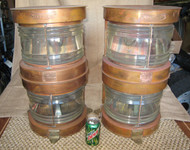 vintage copper masthead ship lights
