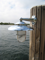 chrome nautical bathroom light